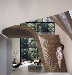 impressive staircase design inspirations for your house 19 Interior Design Inspiration, Home Interior Design, Interior Architecture, Staircase Architecture, Design Ideas, Staircases, Architecture Plan, Architecture Colleges, Natural Architecture
