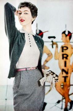 Dovima for Glamour magazine, 1954