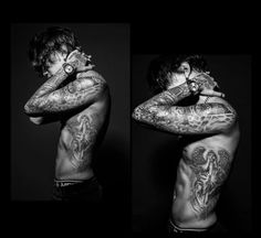 Woah his tattoos are gorgeous