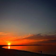 #gdansk #instagram #ilovegdn #sunset #bay #sea #sun #orange #peaceful