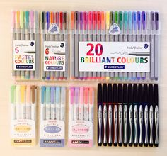 "aestheticorganization: "" 12.24.15 pen collection! (staedtler fineliners, sharpie pens, and mildliners) """