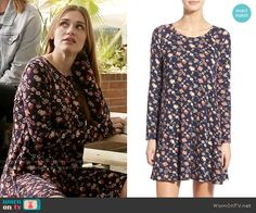 Lydia's floral long sleeved dress on Teen Wolf. Outfit Details: https://wornontv.net/62311/ #TeenWolf