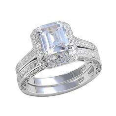 2.85 Ct 925 Sterling Silver Wedding Rings For Women AAA CZ Engagement Bridal Sets Classic Free Shipping