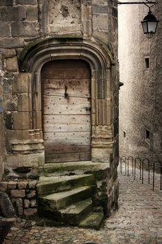 The Ancient Door ~ Auvergne. Portes en Auvergne IV by Cool Doors, The Doors, Unique Doors, Windows And Doors, When One Door Closes, Door Gate, Door Knockers, Closed Doors, Doorway