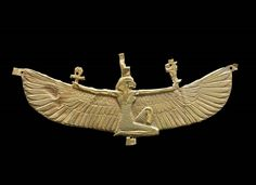 Winged Isis Pectoral, Nubian, Napatan Period, Reign of Amaninatakelebte, 538–519 BC. Gold. Harvard University—Boston Museum of Fine Arts Expedition.