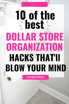 An organized home is extremely important and these dollar store organization ideas will help you organize your home easily. These 10 Dollar Store organization ideas are simply perfect home organization hacks. Definitely Saving for Later! #dollarstoreorganizationideas #dollarstoreorganizationhacks #offbeatbros #smallhomeorganization #homeorganizationhacks #organizationideas Home Organization Hacks, Organizing Your Home, Organization Ideas, 10 Dollar Store, Dollar Store Crafts, Decluttering, Dollar Tree, Archery, Mind Blown