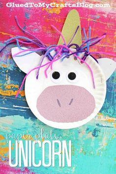 Paper Plate Unicorn - Kid Craft Idea