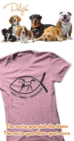 Faith.Family.Equestrian from Play4Jesus. Show the world who you ride for!!! Variety of colors in men, ladies and hoodies!!! Like us on Facebook at Play4Jesus