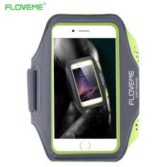 FLOVEME Universal 5.5'' Screen Phone Sport GYM Running Bag Case for iPhone 6 PLUS Waterproof Arm Band Mobile Phone Belt Cover