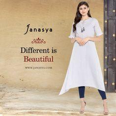 d8dabe65fa9 Multicolor Printed Cotton Asymmetric Kurti-JNE3226. Janasya