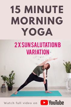This yoga sequence is based on Sun Salutations A + modified Sun Salutations B. It will get your whole body moving and your heart beat faster in a short period of time, so it's great for days when you don't have much time to practice yoga or workout | Yoga with Uliana 15 Minute Morning Yoga, Morning Yoga Flow, Morning Yoga Sequences, Yoga Positionen, Ashtanga Vinyasa Yoga, Daily Yoga Routine, Yoga Fitness, Energy Fitness, Fitness Tips
