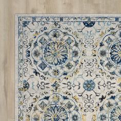 Found it at Wayfair - Pike Ivory/Blue Area Rug