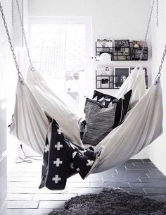 nice Home accessory: hammock chair sofa bedroom living room home decor black and whit...