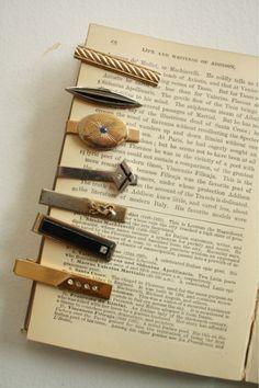 vintage tie clips for the groomsmen
