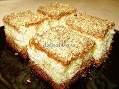 Prăjitură însiropată cu nucă Romanian Desserts, Romanian Food, Croatian Recipes, Hungarian Recipes, My Recipes, Dessert Recipes, Cooking Recipes, Hungarian Cake, Sweet Tarts