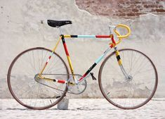 The Italian bicycle company Biascagne Cicli partnered with artist Riccardo Guasco to create a one-of-a-kind fixed gear bike