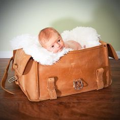 Young Saddlebackers: Waste no time in claiming your birthright. A photo of your cute self swaddled in a fluffy blanket inside your future bag will prove invaluable 40 years hence when the fight for leather begins. Be vigilant!  #TheyllFightOverItWhenYourDead #Duffel #BetterWithAge #LeatherGoods #SaddlebackLeather