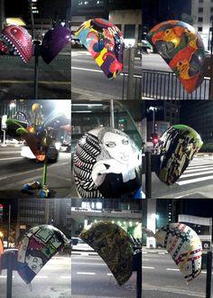 "thepurplekoala:  Pay-phone art in Sao Paulo, Brazil. The ""Call Parade""."