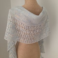 With its soft curves and beautiful lace, Rosewater is a stunning shawl you'll want to knit again ….and again ….and again …and again.