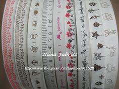 Bird Flower sewing tape ribbon fabric trim zakka woven Cotton Blended Ribbon