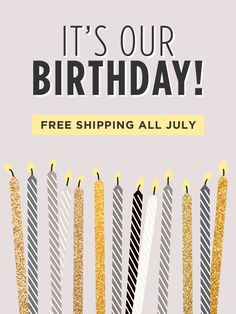 Here's to us AND you! Use code BIRTHDAY for free US shipping on all orders on www.mooreaseal.com! + all in store purchases get a special mystery gift <3