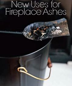 Discover six new ways fireplace ashes can help you around your home.   www.inspirationformoms.com #sisxonsaturday #newusesforthings #fireplaceashes
