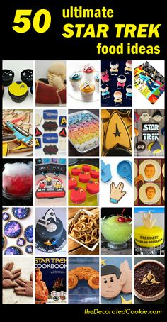 roundup of the 50 best STAR TREK food ideas for your Star Trek party