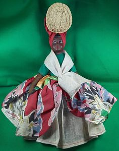 Hatian Doll, Ethnic Doll, Black Doll, Vintage Doll, Cultural Doll, La Belle Creole, Handmade in Haiti, Traditional Dress, Folk Art by Eclectiquesdotorg on Etsy