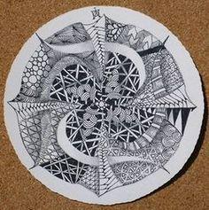 Beautiful Zendala tile by Maria Thomas.