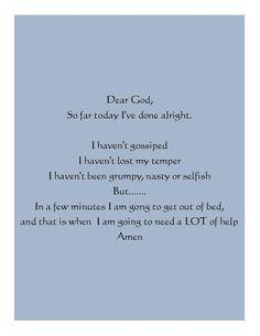 My morning prayer lol