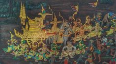 Wall painting @ the Emerald Buddha Temple, Bangkok Buddha Temple, Pagan Gods, Bangkok Thailand, Emerald, Trips, Asia, Wall, Painting, Viajes