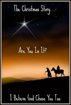 The Christmas Story…Are You In It? Learn about how YOU are like the characters in the bible story of Jesus' birth. God wants you to be a part of His Plan. Where do you see yourself in it?