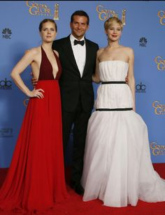 American Hustle-Amy, Bradley, Jennifer @ Golden Globes