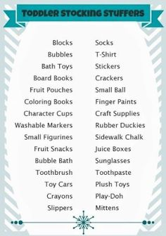 Stocking Stuffer Ideas for Toddlers (125+ Ideas for All Ages) by lisa.w