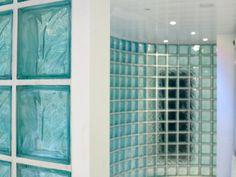 Close up blocks for wall Lobby Design, Glass Blocks, Arrow Keys, Close Image, Blinds, Swimming Pools, Curtains, Wall, Room