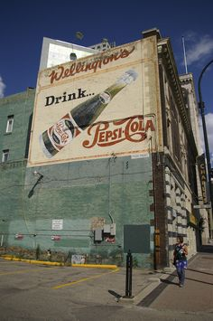 advertising on side of building vintage - Google Search