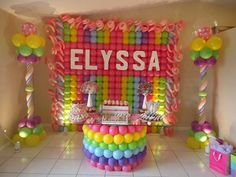Cool balloon backdrop for kids party
