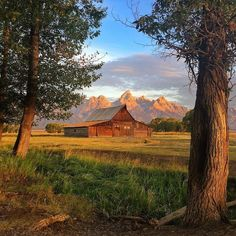 photo by // @drewtrush  The T.A. Moulton barn sits in Grand Teton National Park and has become known as the most photographed barn in America.  When youre standing there in person its easy to see why.  @natgeocreative @thephotosociety @grandtetonnps #findyourpark by natgeotravel