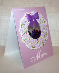 Ann Greenspan's Crafts: Floret Circle Shaker Card