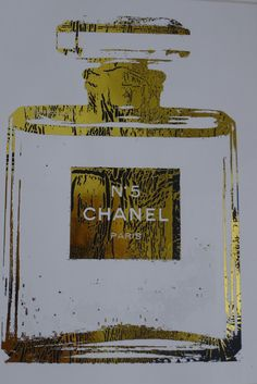 Chanel No. 5 Perfume Bottle 24K Gold Glossy by ISeeNoise on Etsy