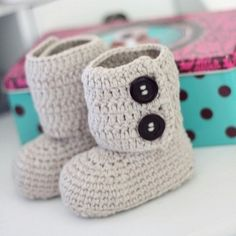 crochet toddler slipper boots by Mary5604