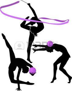 gymnastique rythmique: illustration gymnaste