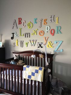 LABOR DAY Sale- Alphabet Set -Unpainted Wooden Letter - Alphabet Wall- mixed fonts and sizes- ABC Wall- Gift- Baby Shower on Etsy, $69.00