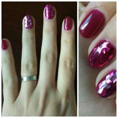 Pink nails glitter