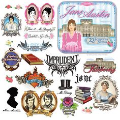 Jane Austen Temporary Tattoos in a Tin -- Just seems appropriate.