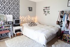 Image via We Heart It https://weheartit.com/entry/175919735 #amazing #bed #bedroom #black #cool #cosy #fun #funky #girl #hipster #inspiration #inspo #lights #pictures #style #teenager #white #wonderful #roominspiration #roomideas #roomdecoration #roomdecor #bedroomidea #roominspo #bedroomdecor #bedroominspiration #roomidea #bedroomideas #bedroomdecoration #bedroominspo