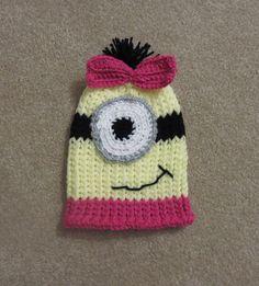 Minion Hat Newborn to 12 months by simplyyarn27 on Etsy, $20.00