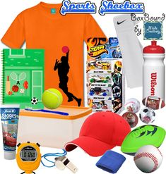 A sports-themed Operation Christmas Child shoebox would be the ultimate gift for a boy! A baseball, football and tennis ball inspire a game of catch with friends. Water bottle and towel to stay hydrated and clean. Even include small sports ball containers filled with bubble gum! #OCC #MadeCreatively www.pinterest.com/madecreatively