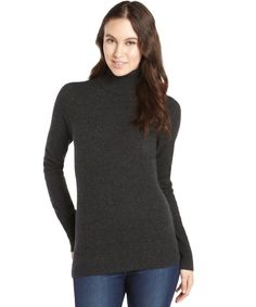 Inhabit dark green cashmere turtleneck sweater | Bluefly Clothing ...