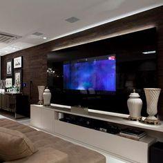 Cozinha e salas estar/jantar integradas com decoração neutra e moderna - we love decor!